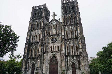 Kerk in Old Quarter Hanoi