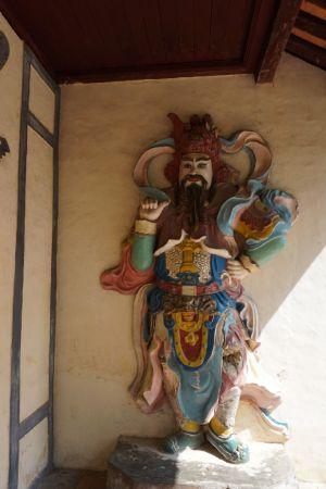 Een god in de Thie Mu Pagoda