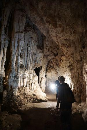 Stalagmieten, stalactieten en pilaren