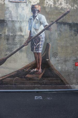Street art Idian Boatmen